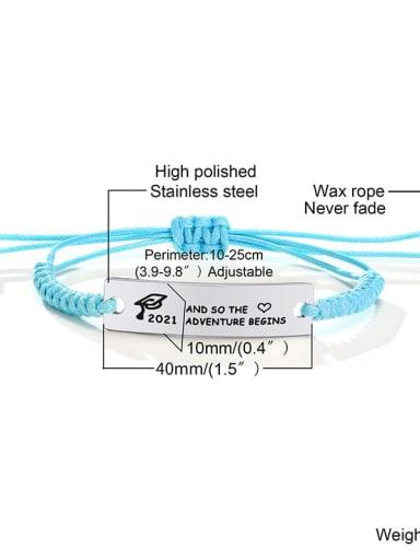 Blue rope 12 Stainless steel Geometric Minimalist Woven Bracelet