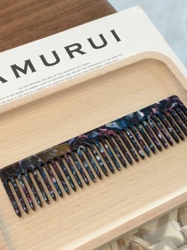 K034 blue purple Cellulose Acetate Minimalist Geometric Hair Comb