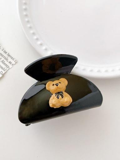 Black bear 6cm Acrylic Cute Bear Alloy Jaw Hair Claw