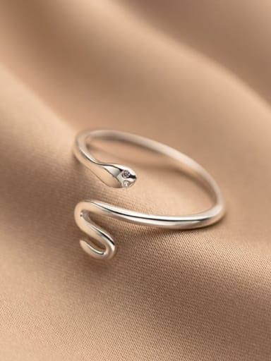 925 Sterling Silver Snake Minimalist Band Ring
