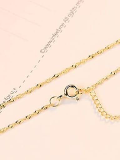 Crude  Gold 925 Sterling Silver Minimalist Singapore Chain