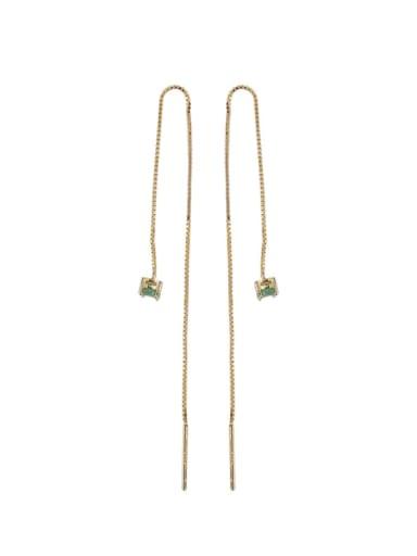 925 Sterling Silver Opal Geometric Minimalist Drop Earring