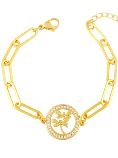 C Brass Cubic Zirconia Star Vintage Link Bracelet