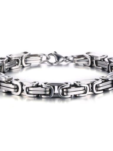 Silver Bracelet Titanium Steel Irregular Vintage Necklace