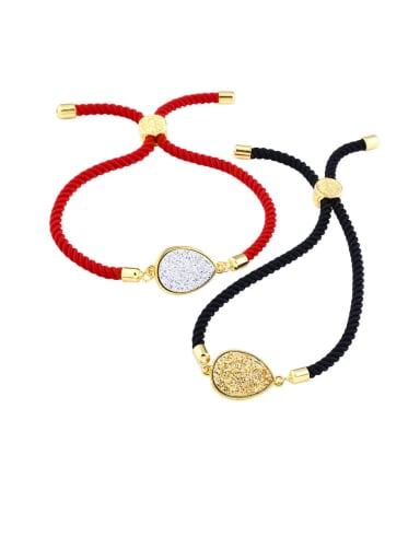 Leather Geometric Minimalist Adjustable Bracelet