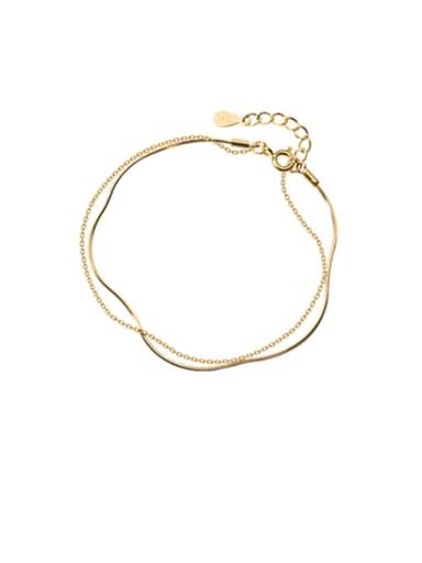 925 Sterling Silver Minimalist chain Strand Bracelet