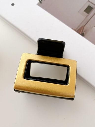Black gold  5cm Alloy Resin Minimalist Geometric Multi Color Jaw Hair Claw