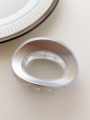 Clear silver 6.8cm Alloy Resin Minimalist Geometric  Multi Color Jaw Hair Claw