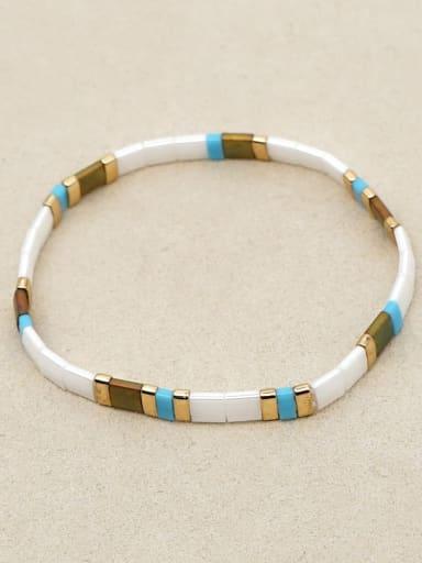 TL B200015A Tila beads Shell  Bohemia Geometry Adjustable Bracelet