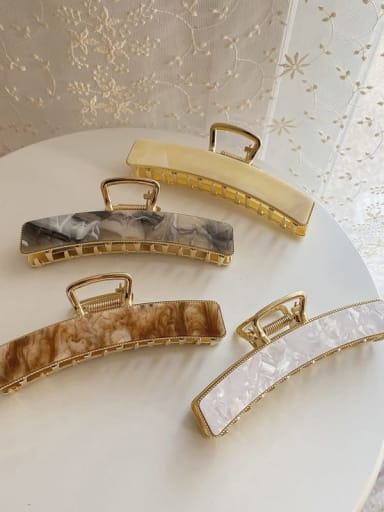 Cellulose Acetate Vintage Geometric Alloy Jaw Hair Claw