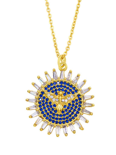 Brass Cubic Zirconia Locket Hip Hop Necklace