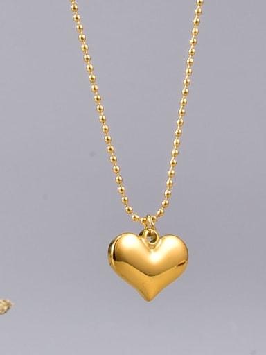 Titanium Steel Heart Minimalist Long Strand Necklace