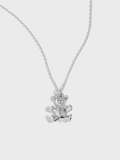 925 Sterling Silver Monkey Vintage Necklace
