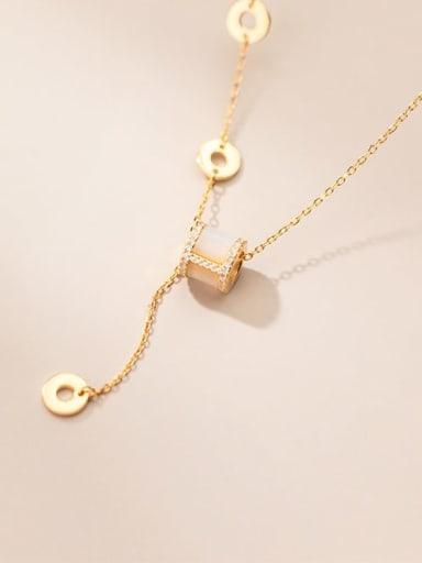 925 Sterling Silver Geometric Minimalist Lariat Necklace