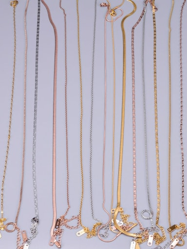 Titanium Minimalist Twisted Serpentine Chain