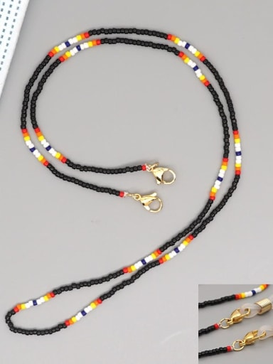 MG N200020C Stainless steel MGB Bead Multi Color Bohemia Necklace