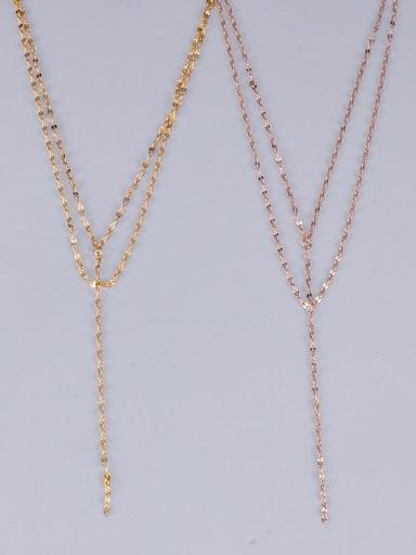 Titanium Star Minimalist Multi Strand Lariat Necklace