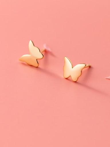 925 Sterling Silver Butterfly Minimalist Stud Earring