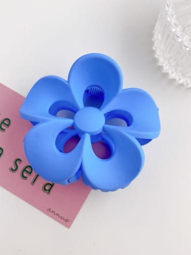 Blue 8cm Alloy Resin Trend Flower  Jaw Hair Claw