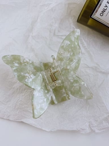 Wuyu Mint 8cm Alloy  Cellulose Acetate Minimalist Butterfly Jaw Hair Claw