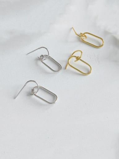925 Sterling Silver Hollow Geometric Minimalist Drop Earring