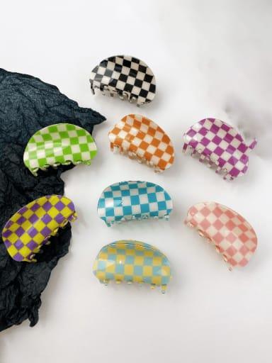 PVC Minimalist Irregular Alloy Multi Color Jaw Hair Claw