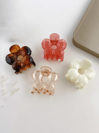 Alloy Resin Trend Flower Jaw Hair Claw
