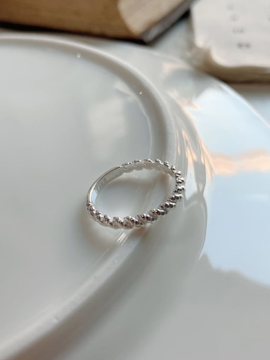 J-1199 925 Sterling Silver Smooth Free Size Ring