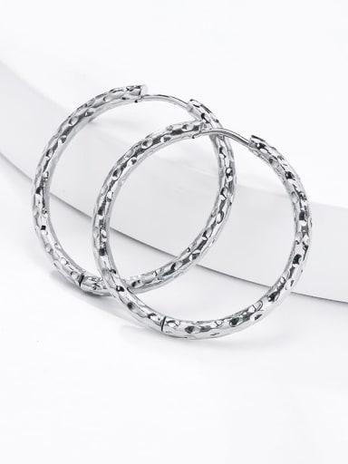 Titanium Steel Round Hip Hop Hoop Earring