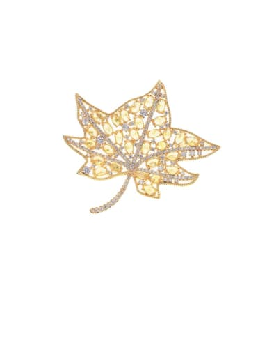 Brass Cubic Zirconia Butterfly Statement Brooch