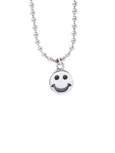 Smiley face chain 925 Sterling Silver Geometric Vintage Bead Anklet