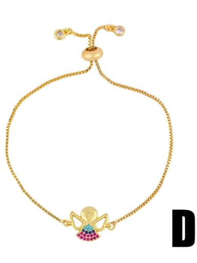 Brb94 D Brass Cubic Zirconia Turtle Cute Link Bracelet