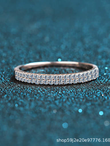 Sterling Silver Moissanite White  Dainty Engagement Rings