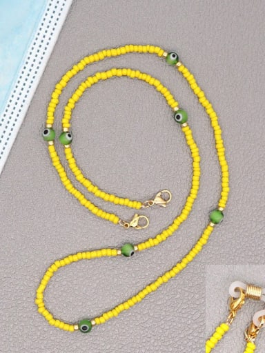 GZ N200002C Stainless steel Bead Multi Color Evil Eye Bohemia Hand-woven Necklace