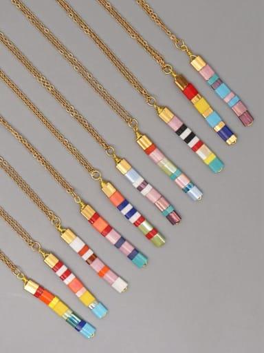 Stainless steel Miyukitila Geometric Bohemia Pure handmade Necklace