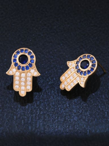 rose gold Alloy Cubic Zirconia Irregular Minimalist Stud Earring