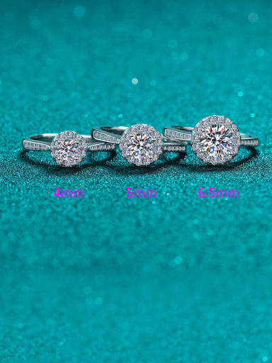 0.3 CT Moissanite Sterling Silver Moissanite Round Dainty Solitaire Engagement Rings
