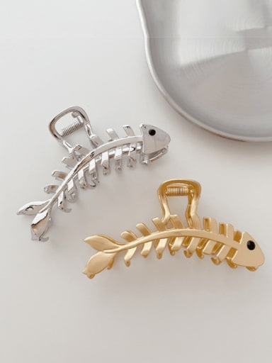 Alloy Minimalist Fishbone  Jaw Hair Claw