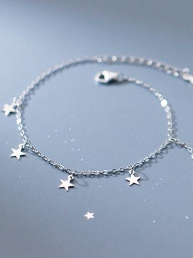 925 Sterling Silver Tassel Minimalist Link Bracelet