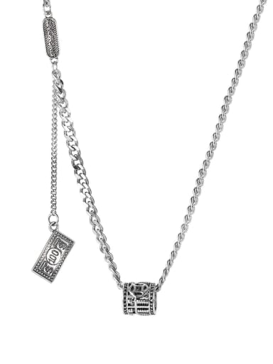 Stainless steel Geometric Vintage Necklace