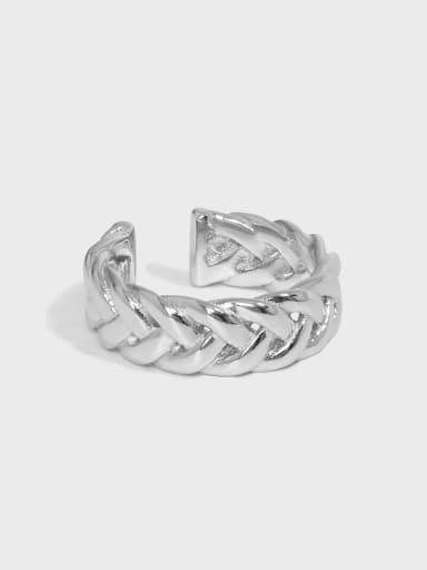 925 Sterling Silver Hollow Geometric Vintage Band Ring