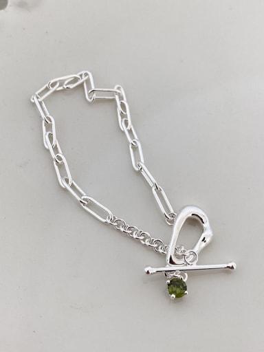 925 Sterling Silver Irregular  Vintage Chain  Bracelet