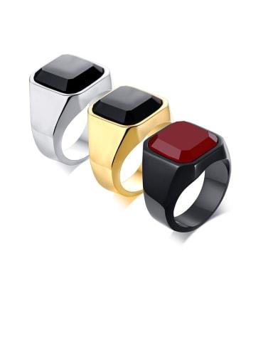 """Titanium Carnelian Men""""S Ring"""