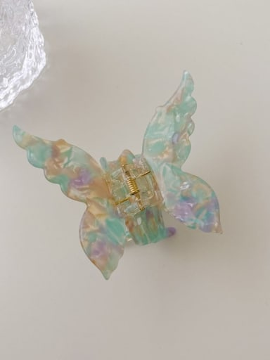 Multicolored flower 7cm Cellulose Acetate Cute Butterfly Alloy Jaw Hair Claw