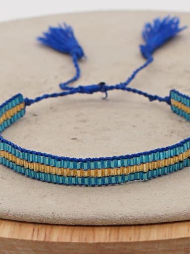 MG B180009K Multi Color MGB Bead Geometric Bohemia Handmade Weave Bracelet