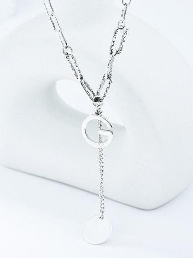925 Sterling Silver Tassel Vintage Lariat Necklace