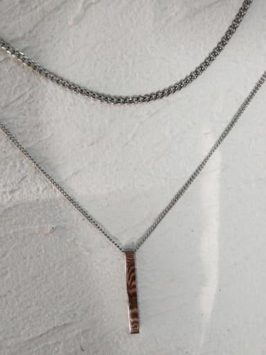 Necklace 55cm 70cm long Titanium Steel Geometric  Minimalist Regligious Necklace