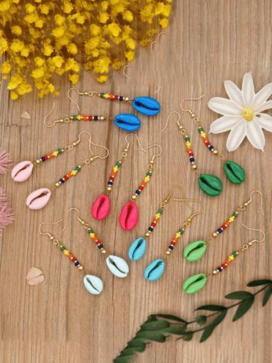 Stainless steel MGB Bead Multi Color Tassel Bohemia Hook Earring