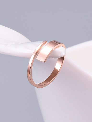 Titanium Irregular Minimalist Free Size Ring