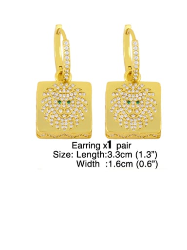 Earrings Brass Cubic Zirconia Vintage Square  Earring Ring and Necklace Set